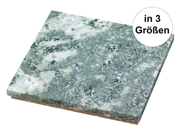 Skeppshult quadratischer Marmoruntersetzer mit Korkboden in drei Größen