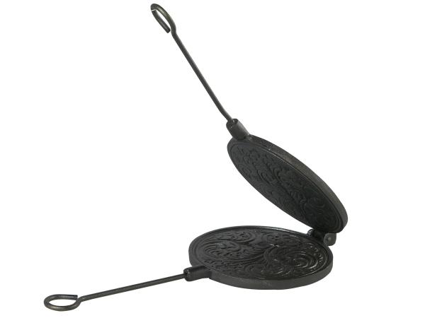 Skeppshult Gusseisen Waffeleisen rund 15 cm